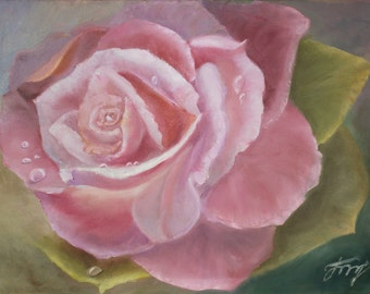 flowers oil painting The ROSE -  original contemporary oil painting// bouquet // flowers// flowers oil painting//interior oil painting