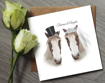 Horse Wedding Invitation - Funny Wedding Invitations - Horse Wedding Invites - Horse Wedding Invitations - Horse Tack - Wedding Invitation