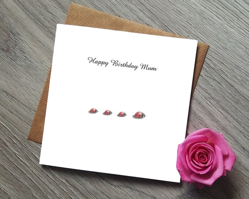 Mothers Day Mum Birthday Card Cards For Ladybird