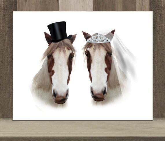 Horse Wedding Gift Horse Themed Wedding Gift Mr Mrs Etsy