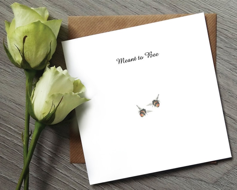 Cute Anniversary Card Meant to Bee  Cute Wedding Card  image 0
