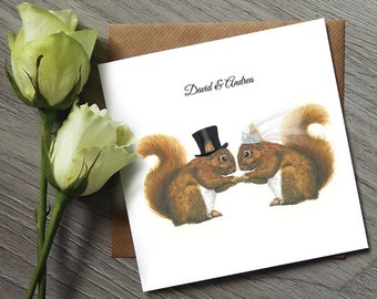 Squirrel Wedding Invitations - Wedding Invitation - Funny Wedding Invitations - Wedding Invitations Squirrel - Unique Wedding Invitations