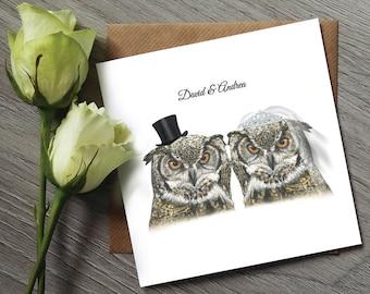Owl Wedding Invitations - Funny Wedding Invitations - Owl Wedding Invitation - Funny Wedding Invitation - Owl invitations - Wedding Invites
