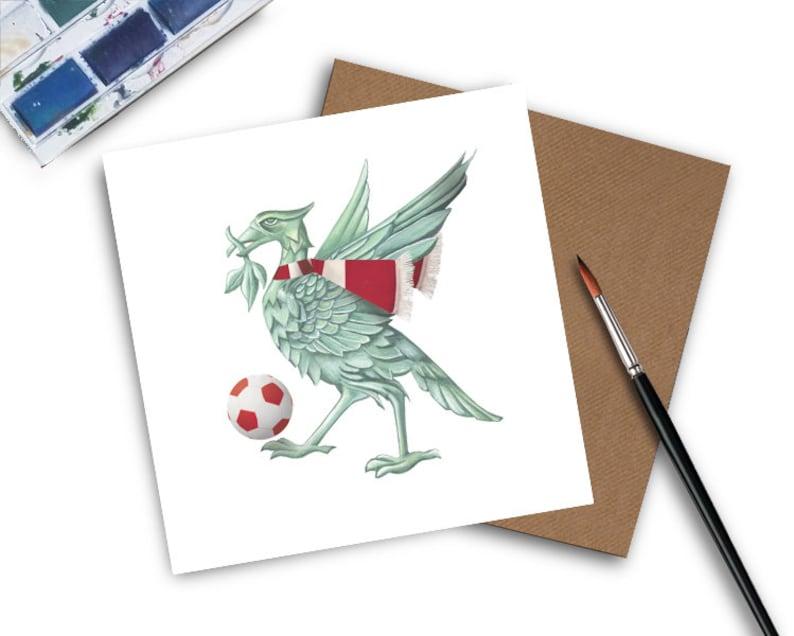 Liverpool Card  Liverpool Birthday Card  Liverpool  Football Liver Bird