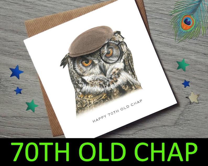70th Birthday For Him Card