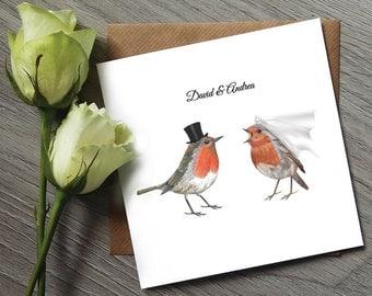 Christmas Wedding Invitations - Bird Wedding Invitation - Robin Wedding Invitation - Bird Wedding - Robin Wedding - Wedding Invitations
