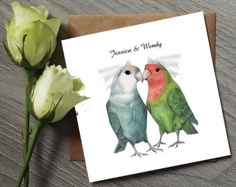 Lesbian Wedding Invitation - Gay Wedding - Love Bird Wedding Invitations - Love Birds - Gay wedding Stationary - Mrs and Mrs Wedding