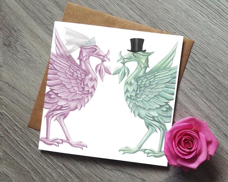 Liverpool Wedding Card  Liverbird  Liver Bird  Liver image 0