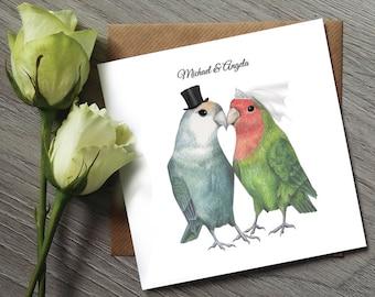 Bird Wedding Invitation - Love Bird Wedding Invitations - Funny Wedding Invitations - Wedding Invitation Bird - Bird Wedding Invites