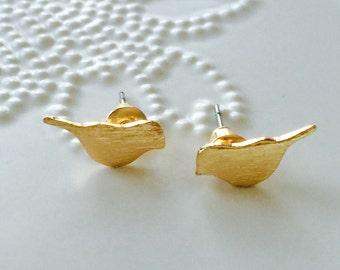 SALE... Tiny Bird Stud Earrings