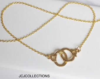 Handcuff Necklace, Gold Necklace