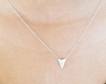 SALE... Tiny Triangle Necklace, Dainty, Silver Necklace, Minimalist Charm