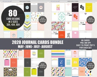 Printable digital journal cards, Digital pocket cards, Project life printables, Bundle journal cards printables, Instant download cards