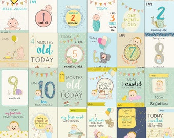 baby boy first moments- Journal Cards - Instant Download Printable journaling cards for Project Life and digital scrapbooking