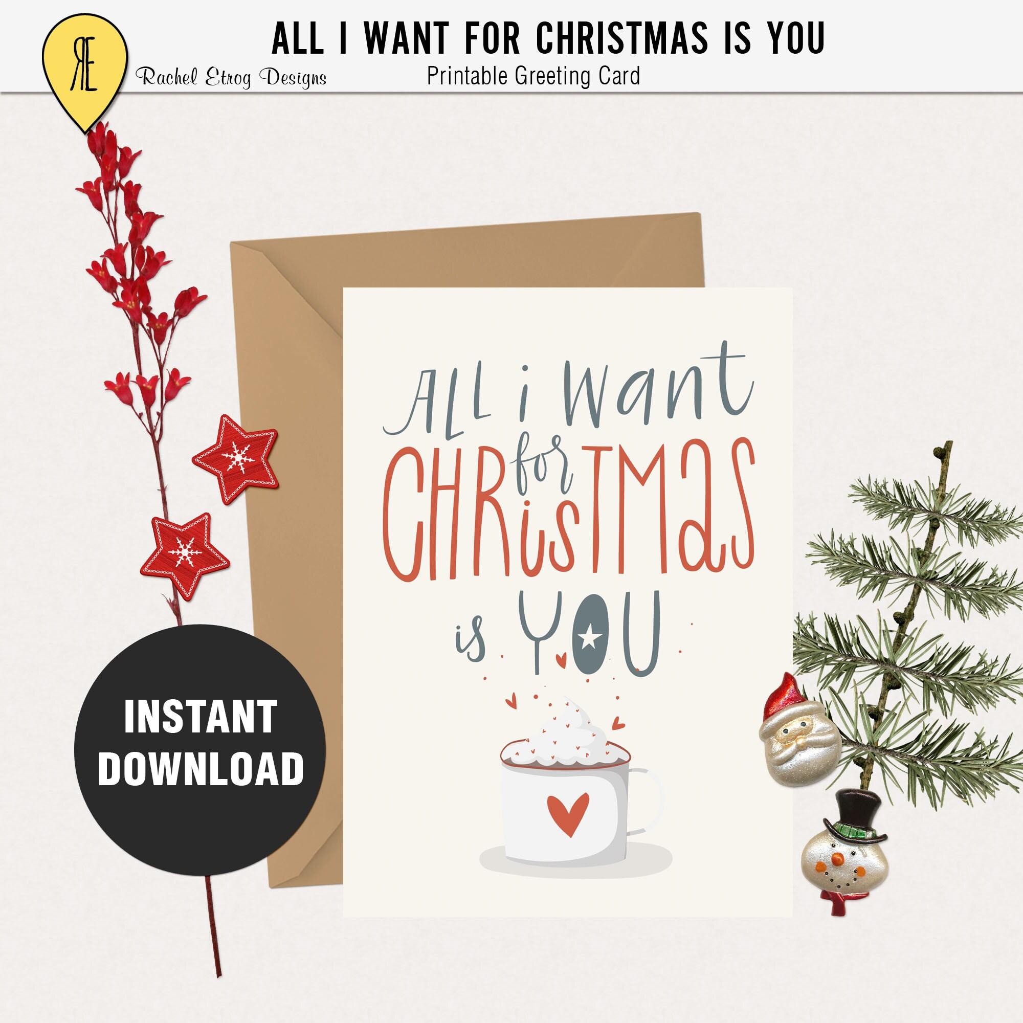 Printable christmas cards 5X7 printable card Printable | Etsy