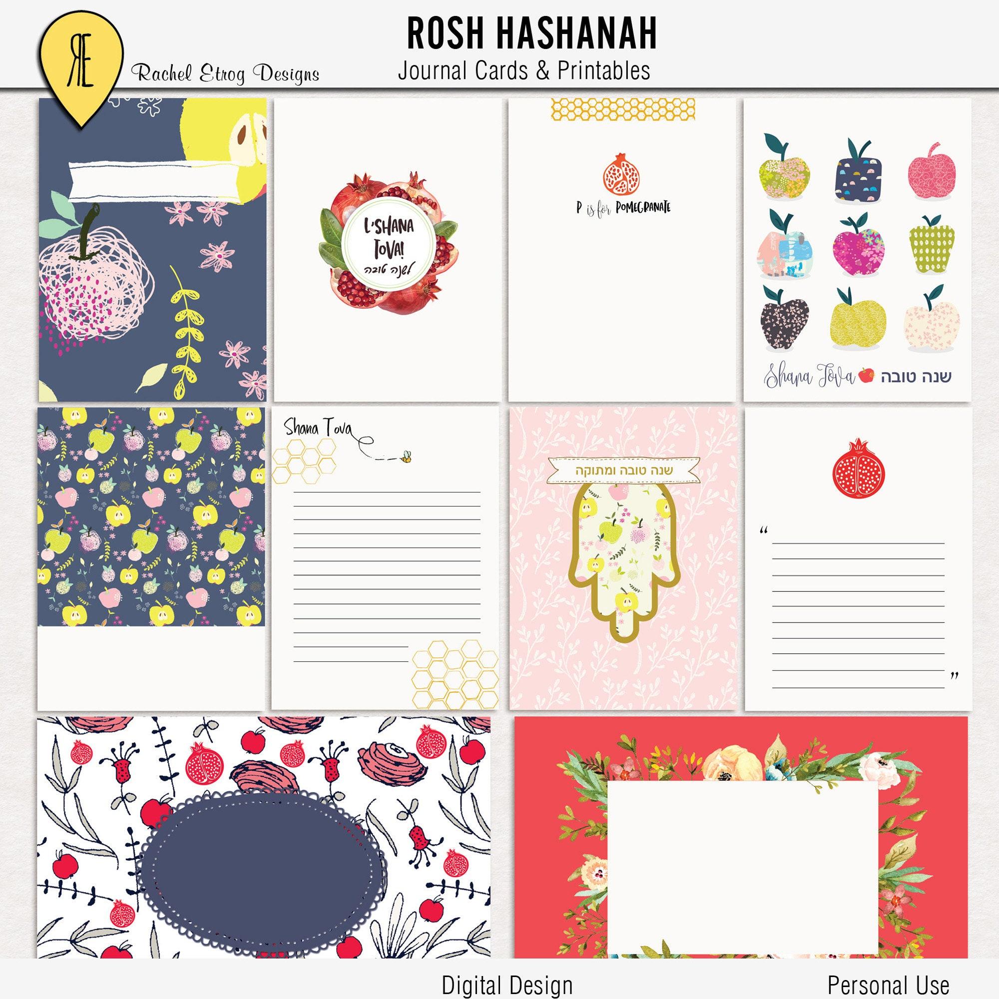 Rosh Hashanah Digital Journal Cards Rosh Hashanah Digital Etsy