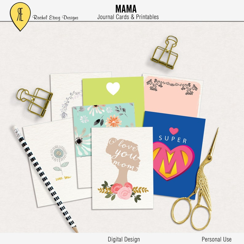 photo about Printable Journaling Cards known as Mama - Magazine Playing cards - Prompt Obtain - Printable journaling playing cards for Job Everyday living and electronic sbooking