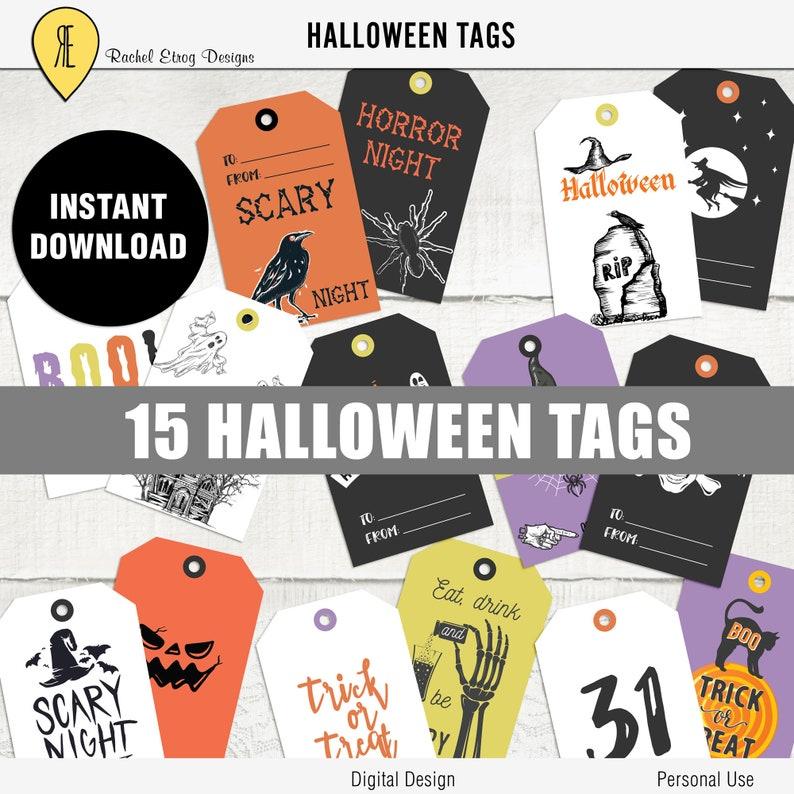 Halloween Gift Tags.Halloween Digital Gift Tags Halloween Printable Gift Tags Printable Halloween Gift Tags Halloween Digital Tags Gift Halloween Tags