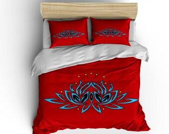 Lotus Flower Bedding Etsy