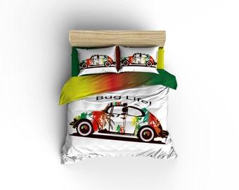 Bug Life Duvet Covers, Home Decor, Bedding,Beach Buggy Bedding, Bedroom  Decor