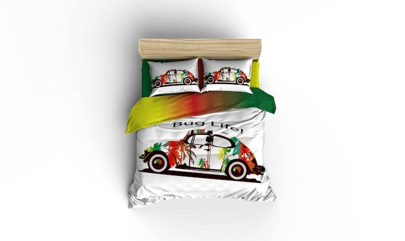 . Bug Life duvet covers  home decor  bedding Beach buggy bedding  bedroom  decor graphic print bedding rockabilly bedding volkswagon bugs