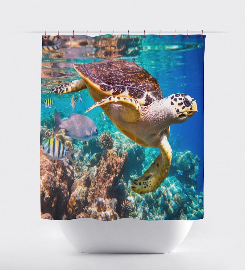 Sea Turtle Shower CurtainsBath Curtains Bathroom