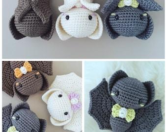 Bat crochet pattern - amigurumi bat pattern - crochet bat - bat amigurumi - baby bat pattern - halloween crochet pattern