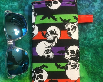 Halloween walking dead TWD Lucille  creepy eyeglass sunglass holder   case