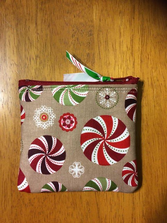 Christmas candy menthe poivrée Noël cadeau porte-carte / petit porte-monnaie / porte-cartes de crédit
