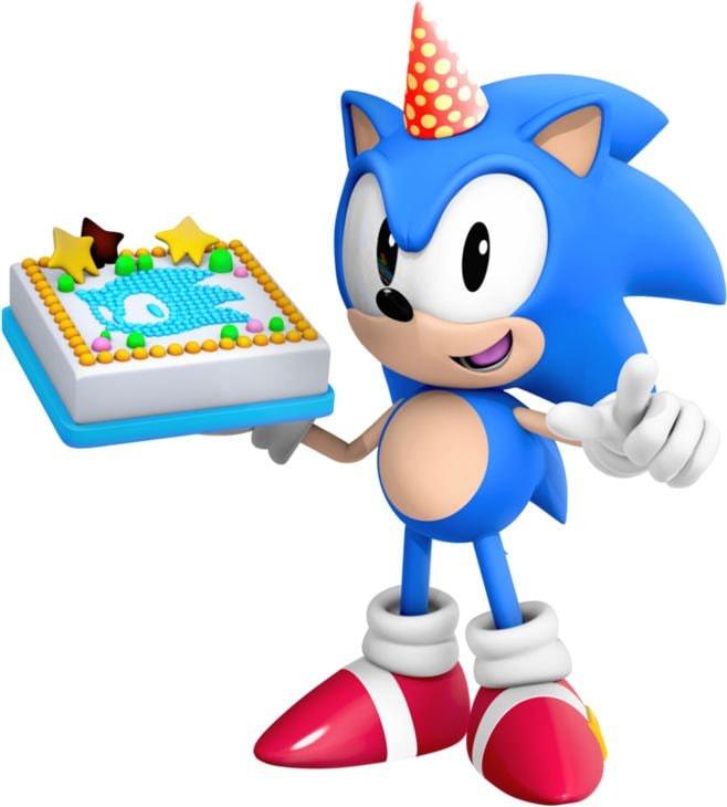 Sonic The Hedgehog Birthday Heat Transfer Iron On For Light Fabric 5