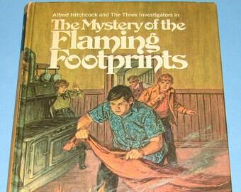 Three Investigators #15 Mystery of Flaming Footprints HB