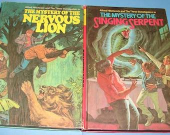 Three Investigators #16 Nervous Lion and #17 Singing Serpent