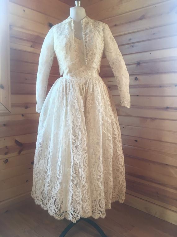 1950s Ballet Length Bridal Gown, Wedding Dress