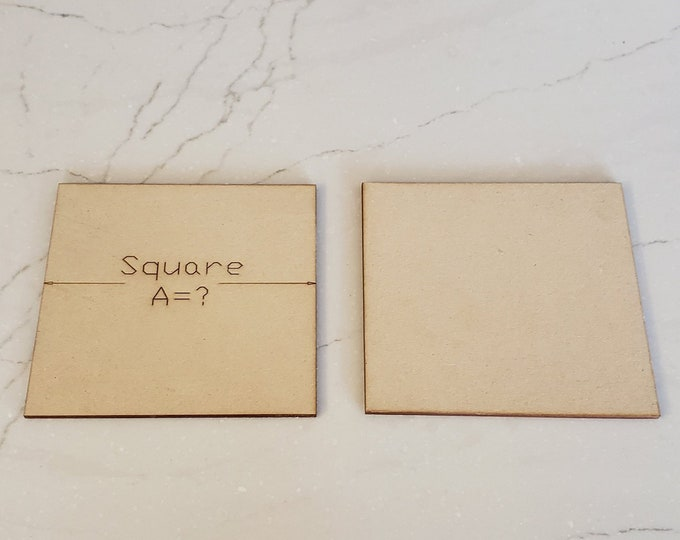 Up to  40 Miniature Bases Custom Sized Squares up to 150 mm out of MDF with FREE shipping in the USA