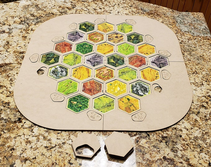 2019 4 or 6 player Settlers of Catan Frame with ports, FREE Shipping in the USA