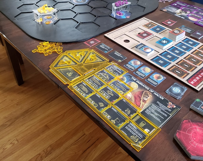 Set of 6 Twilight Imperium Acrylic Overlays FREE SHIPPING in the USA