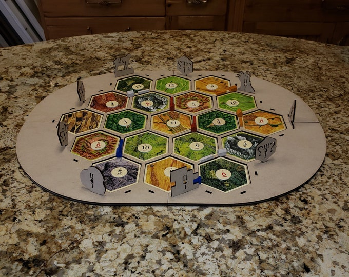 2019 4 or 6 player Settlers of Catan Frame with FREE Shipping in the USA