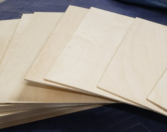 "6mm (1/4"") B/BB grade Baltic Birch 12"" x 20"" FREE Shipping in the USA 12 pieces"