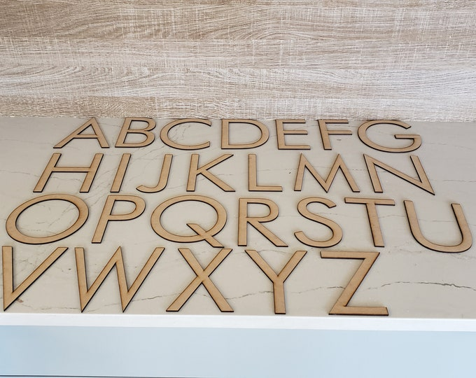 "Up to 40 Custom Sized Letters up to 5 3/4"" tall out of MDF with FREE shipping in the USA"