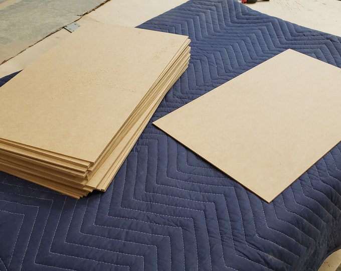 "3mm (1/8"") MDF 12"" x 20"" FREE Shipping in the USA 24 pieces"