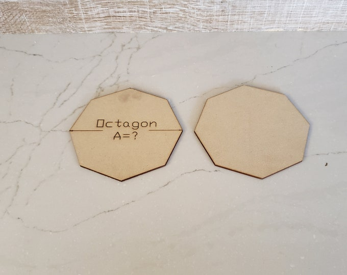 Up to 40 Miniature Bases Custom Sized Octagons up to 150 mm out of MDF with FREE shipping in the USA
