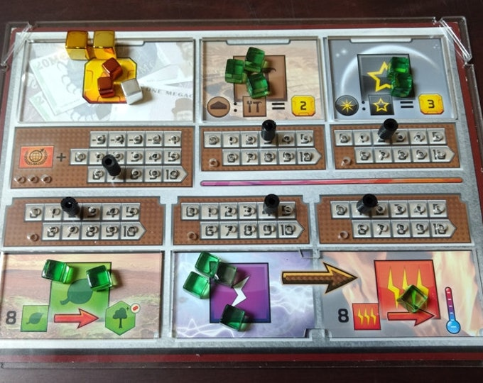 Terraforming Mars Player Board Overlays (set of 5) with FREE Shipping in the USA