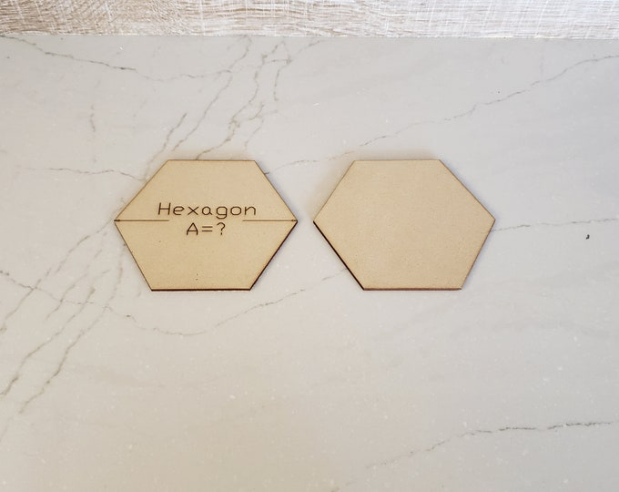Up to 40 Miniature Bases Custom Sized Hexagons up to 150 mm out of MDF with FREE shipping in the USA