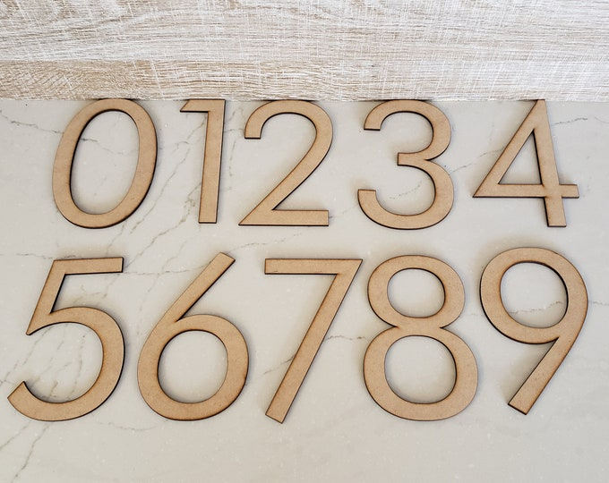 "Up to 40 Custom Sized Numbers up to 5 3/4"" tall out of MDF with FREE shipping in the USA"