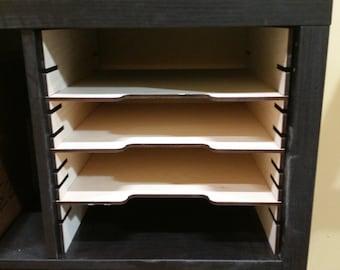 Kallax or Expedit adjustable shelf cubbies
