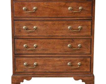 Vintage Walnut Chest Of Drawers By Davis Cabinet Co.