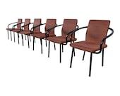 Ettore Sottsass for Knoll Mandarin Armchairs, Set of Six