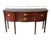 Inlaid Mahogany Hepplewhite Style Sideboard Buffet by Thomasville
