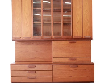 c296581d39be Danish Modern Teak Bar Cabinet Wall Unit