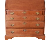 18th Century Early American Chippendale Cherry Wood Drop-Front Secretary Desk